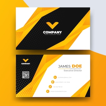 Abstract business card template with logo
