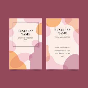 Abstract business card template with pastel-colored