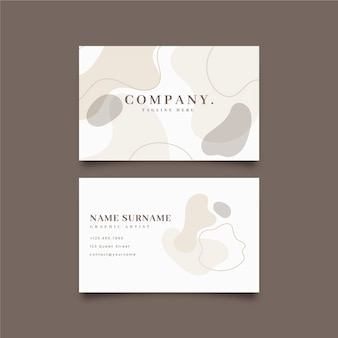 Abstract business card template with pastel stains