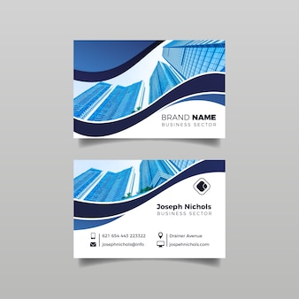 Abstract business card template with photo concept