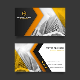 Abstract business card template with photo image