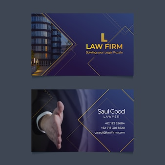 Abstract business card template with photo