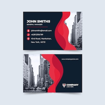 Abstract business card template with pic
