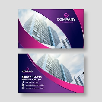 Abstract business card template with picture