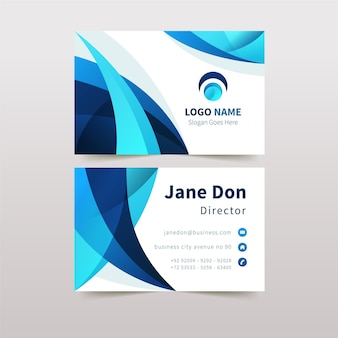 Abstract business card template with shapes