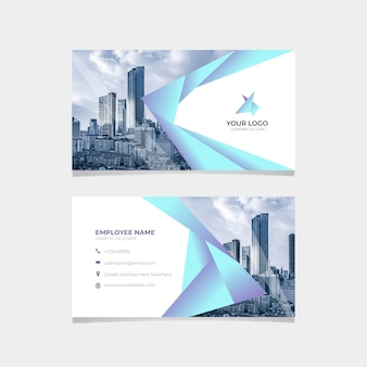 Abstract business card template with skyscrapers