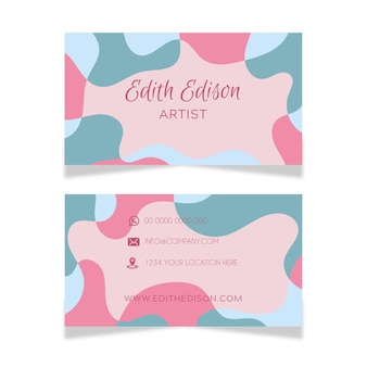 Abstract business card template with stains