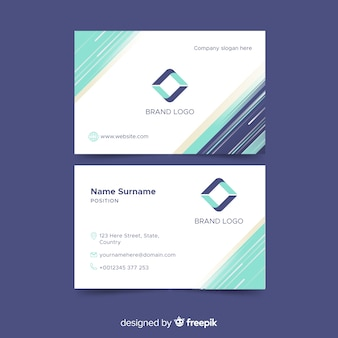 Abstract business card template
