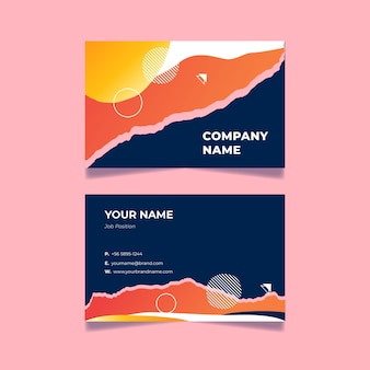 Abstract business card theme for template