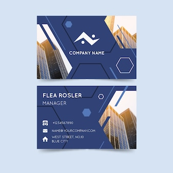 Abstract business card theme