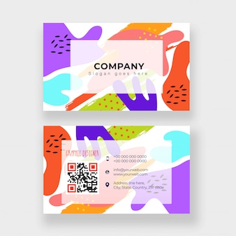 Abstract business card or visiting card design in front and back