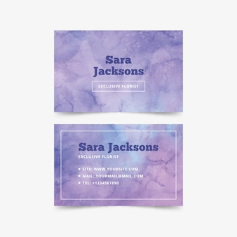 Abstract business card watercolor