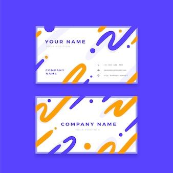 Абстрактные визитные карточки волнистые формы и точки