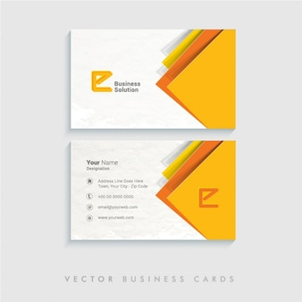 Abstract business card with color details