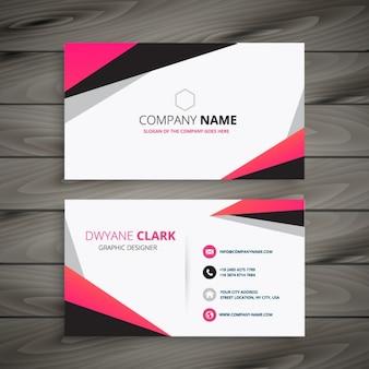 色のピンクとグレーで抽象的なビジネスカード