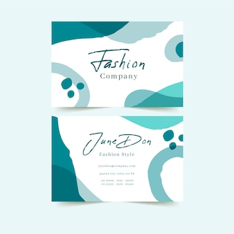 Abstract business card with colorful stains