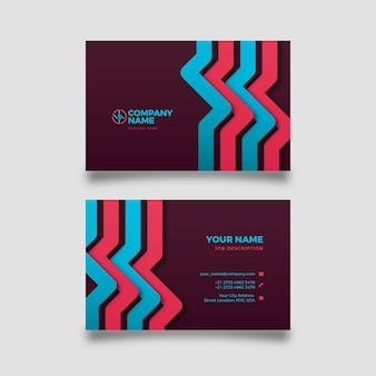 Abstract business card with colourful shapes