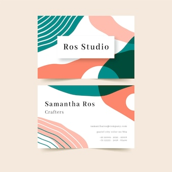 Abstract business card with colourful stains