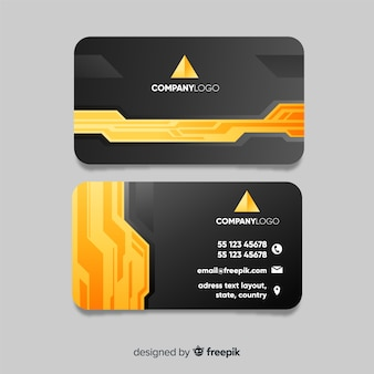 Abstract business card with creative shapes