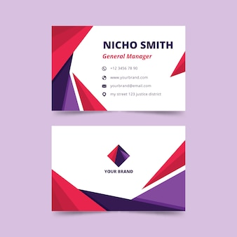 Abstract business card with geometric design