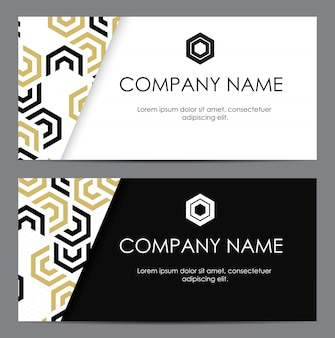 Abstract business card with geometric pattern.