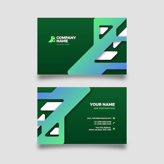Abstract business card with gradient shapes