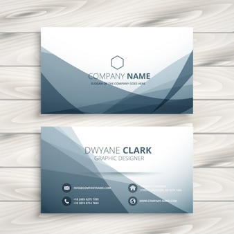 Abstract business card with grey waves