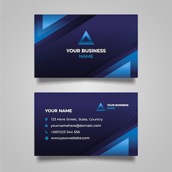 Abstract business card with layers of blue