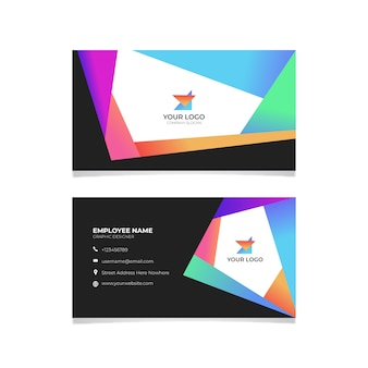 Abstract business card with lines