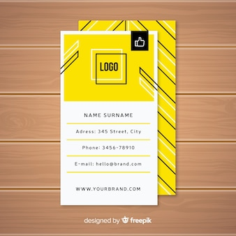 Abstract business card with modern shapes