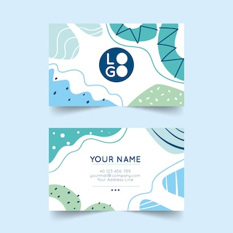 Abstract business card with painted elements