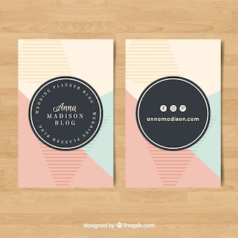 Abstract business card with pastel tones
