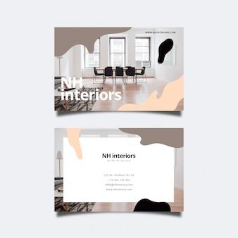 Абстрактная визитная карточка с фото-дизайном