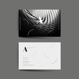 Abstract business card with photo template