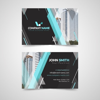Abstract business card with photo
