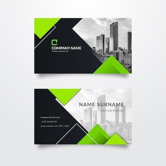 Abstract business card with picture