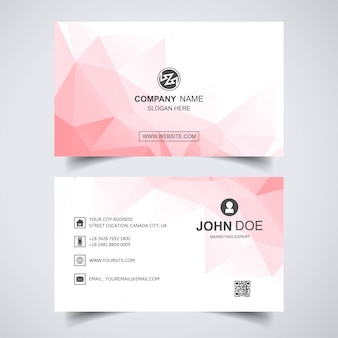 Abstract business card with polygon background
