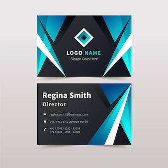 Abstract business card with shapes and logo template