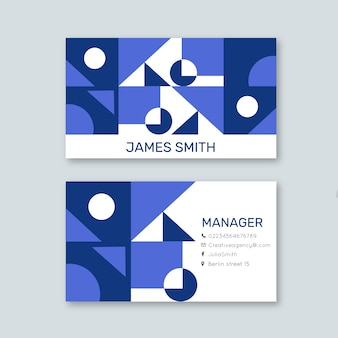 Abstract business card with shapes