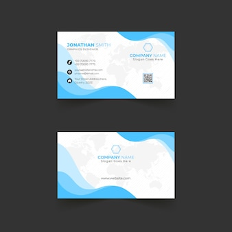 Abstract business card with wavy design elements