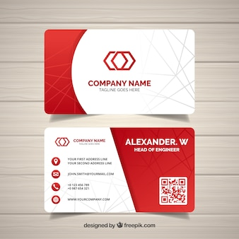 Elegant business card template with geometric design vector free abstract business card reheart Gallery