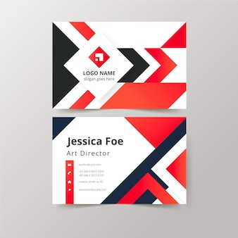 Abstract business cards concept