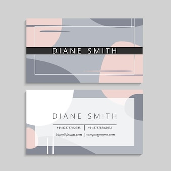 Abstract business cards set template. geometric elements