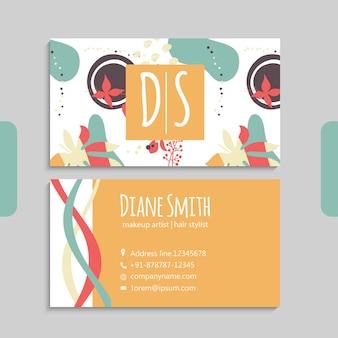 Абстрактный шаблон визитных карточек