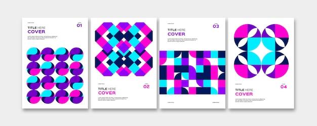 Raccolta di copertine colorate di affari astratti
