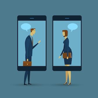 통신의 추상 사업 개념입니다. 이동 통신.