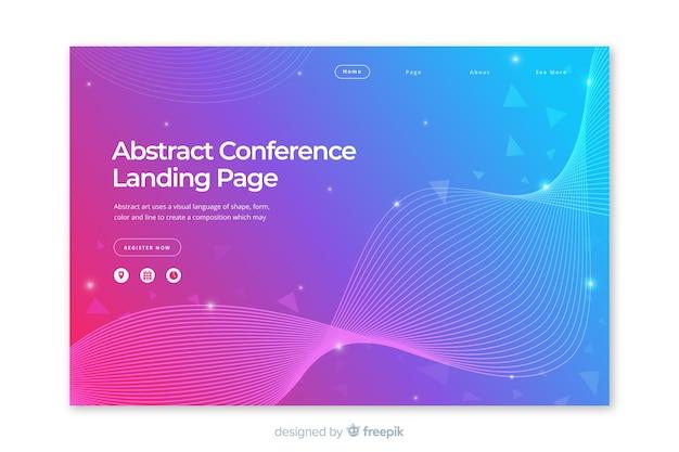 抽象的なビジネス会議のランディングページ