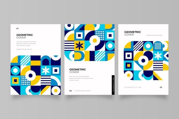 기하학적 형태와 추상 비즈니스 커버 컬렉션
