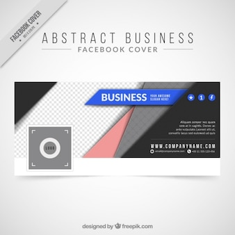 Abstract business cover for facebook