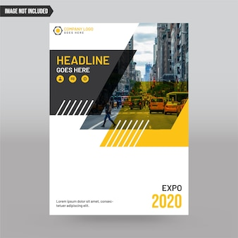 Abstract business cover template with image